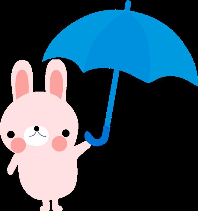 梅雨 傘のイラスト無料素材