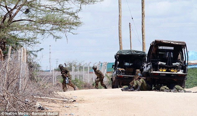Captured: The Kenyan military launched a major security operation and detained one terrorist trying to escape