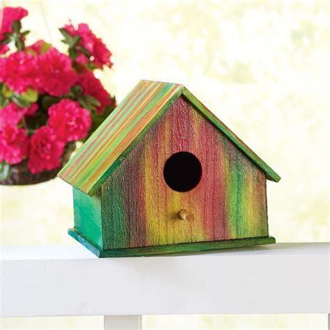 Tie Dye Wood Birdhouse