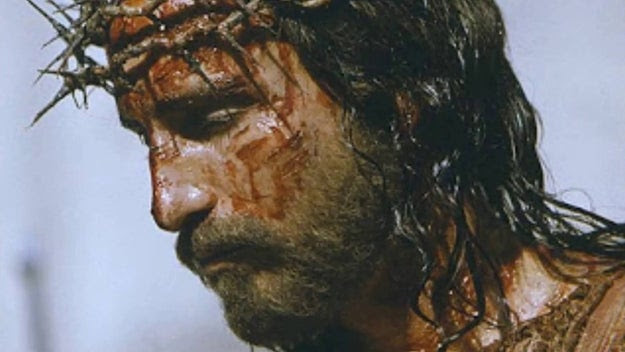 "During the filming of The Passion of the Christ, Jim Caviezel, who played Jesus, and assistant director Jan Michelini were struck by lighting. They were not seriously injured. However, according to the producer of the film, there was ""smoke coming out of Caviezel's ears."""