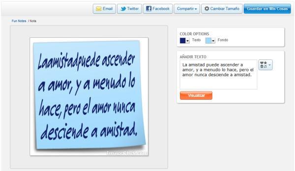 Como Crear Notas Con Mensajes Para Compartir En Facebook Web Y Pc