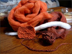Spinning Cotton for Knitting class