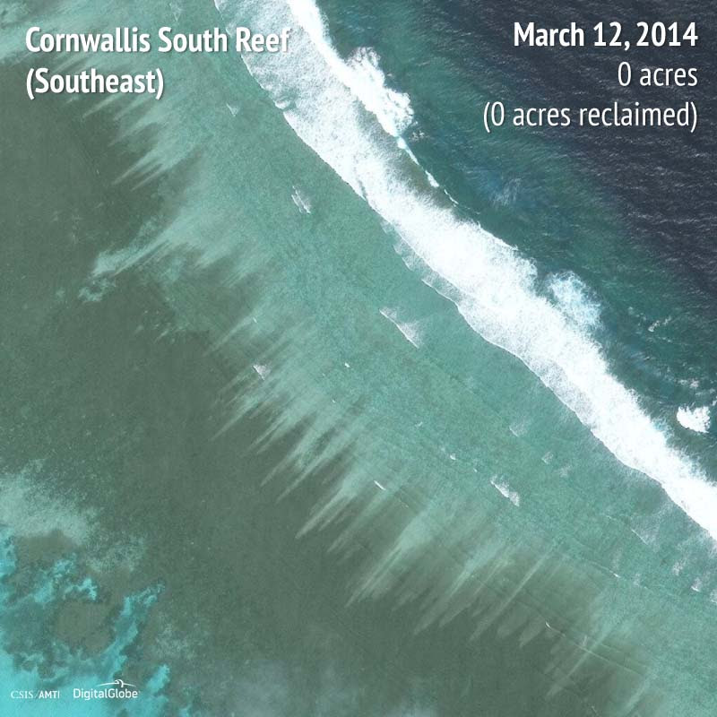 Cornwallis South Reef (Southeast) 2014 | 0 acres reclaimed