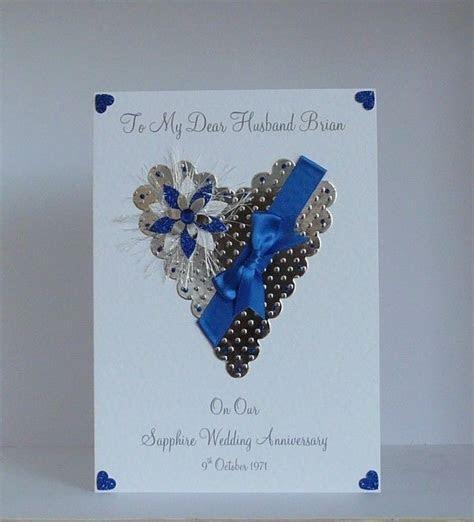 45th/65th Sapphire Wedding Anniversary Card Wife