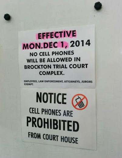 No Cell Phone in Court? Banned in Brockton, MA by Amy, Esq.