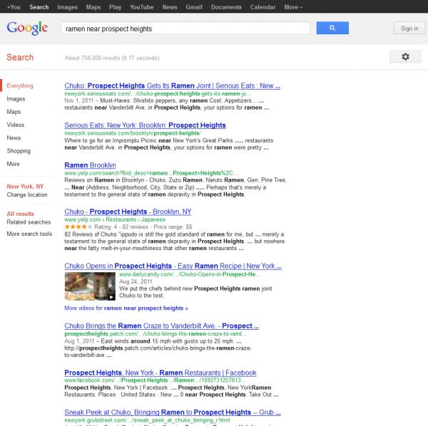 Ramen near prospect heights Google