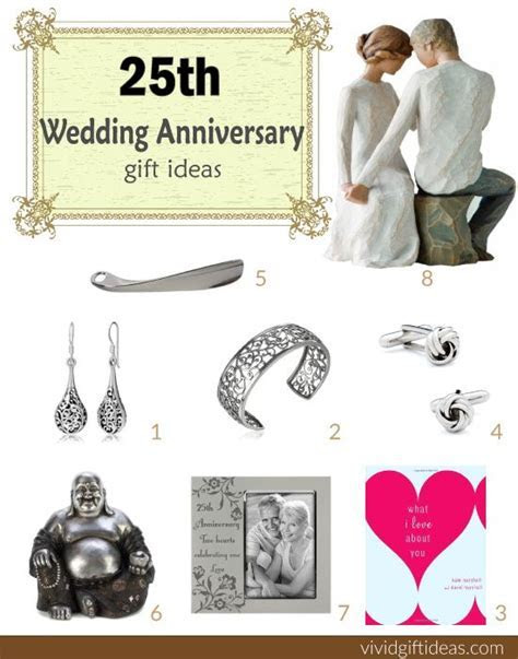 25th Wedding Anniversary Gift Ideas   25th anniversary