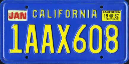 CA 82 #1AAX608