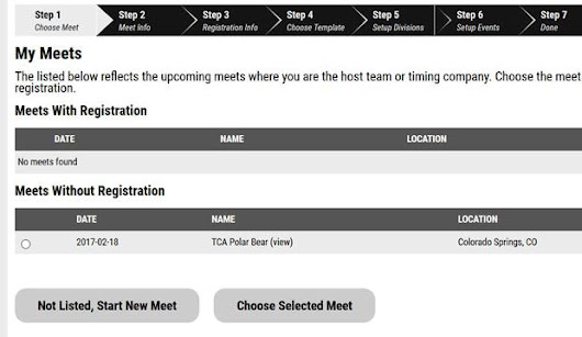 Coaches: Setting up Online Registration from Scratch for a New Meet