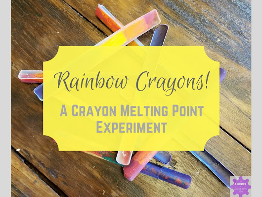 Make a Rainbow Crayon using the Melting Point for Crayons!
