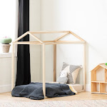 South Shore Sweedi Natural Poplar Toddler House Bed