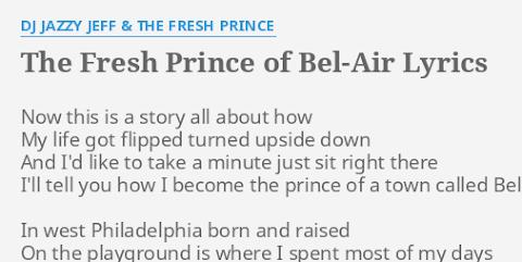 Dj Jazzy Jeff The Fresh Prince Lyrics