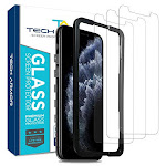 Tech Armor Ballistic Glass Screen Protector For Apple Iphone 11 Pro/iphone Xs/iphone X - Case-friendly Tempered Glass [3-pack], Haptic Touch Accurate