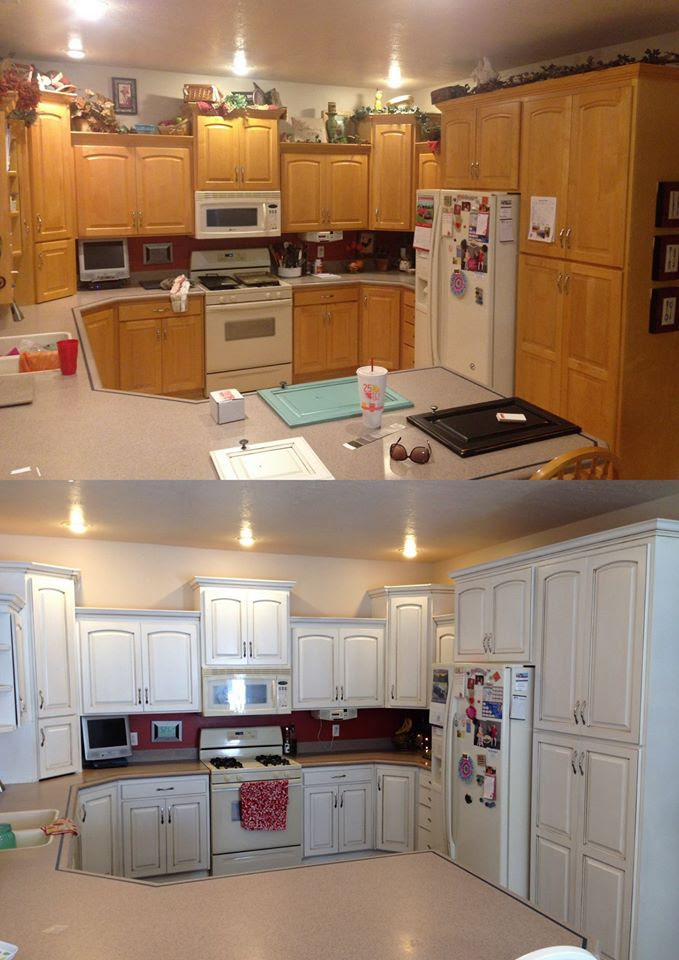 Snow White and Van Dyke Brown Kitchen Cabinets | General ...