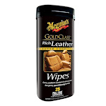Meguiar's G10900 Gold Class Rich Leather Cleaner and Conditioner Wipes, 25-count
