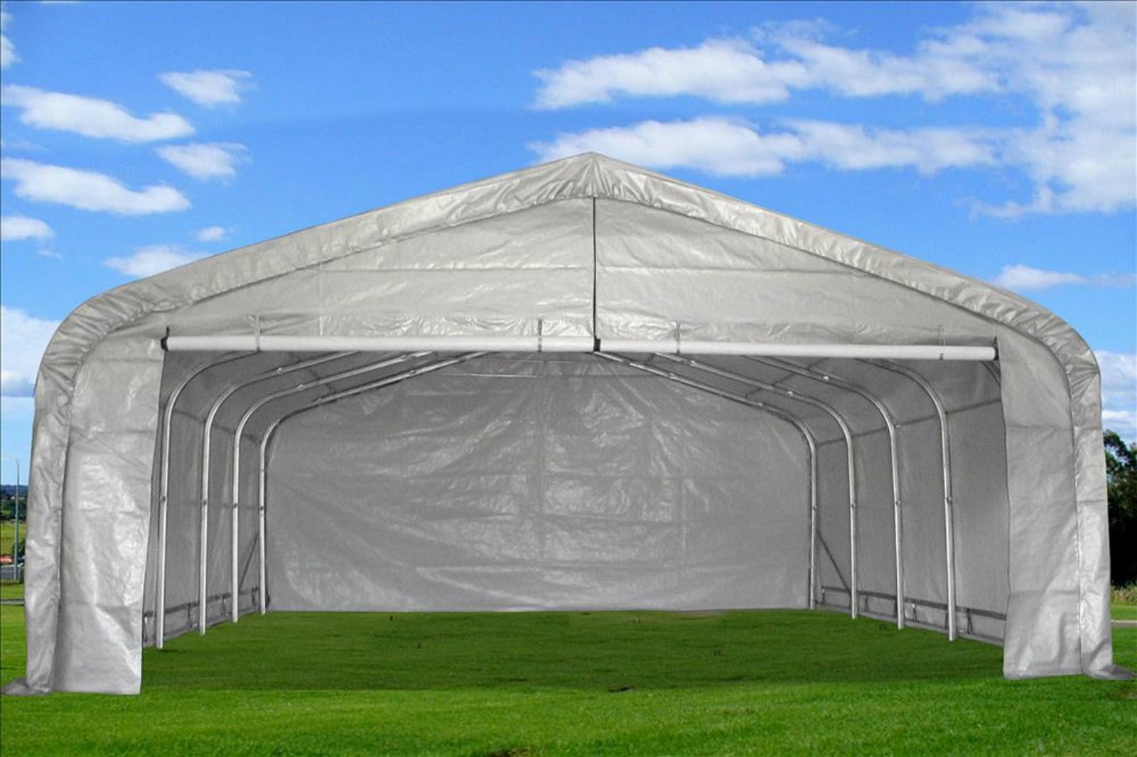 Carport 20'x22' - Garage Storage Canopy Shed Triangular Top