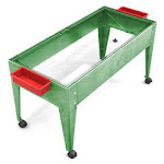 Manta Ray S9424 Clear Liner Sand And Water Activity Center with Lid And 4 Casters - Green Frame