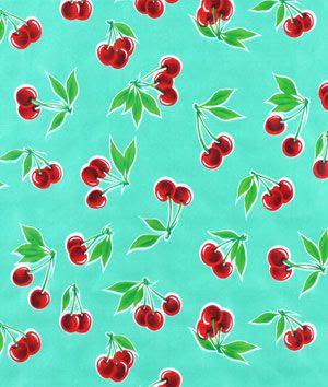 Aqua Stella Oilcloth Fabric - $6.05, buy more and save |onlinefabricstore.net