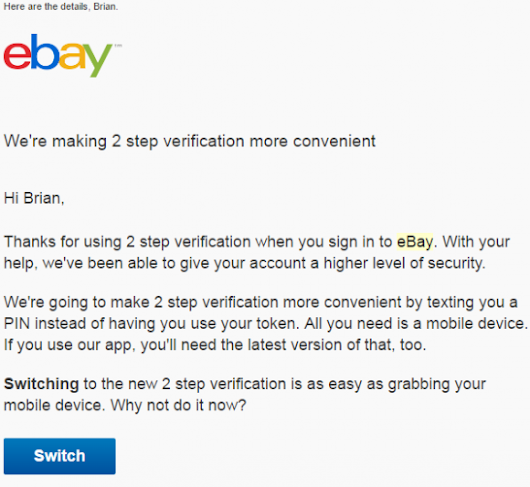 eBay Asks Users to Downgrade Security —  Krebs on Security