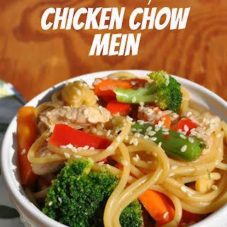 Healthy Chicken Chow Mein.