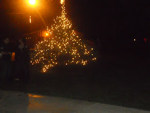 Photo: After the shopping and filling up the stockings we attended the local Tree Lighting activity in Dayton