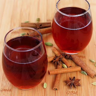 Chai-Spiced Mulled Cranberry-Apple Juice
