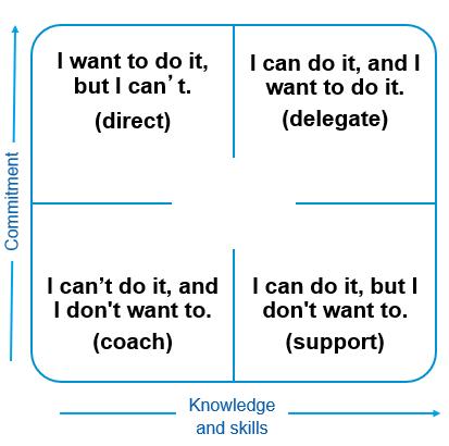 Skill x Will Matrix with Leadership Styles