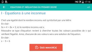 Screenshot of Brevet des collèges 2016