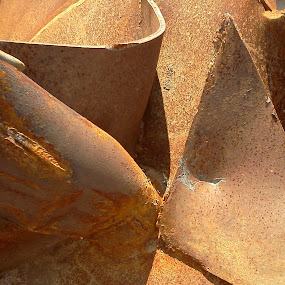 Rustic Abstract by Christy Leigh - Artistic Objects Industrial Objects ( corrosion, metal, rusted metal, oxidation, rust )