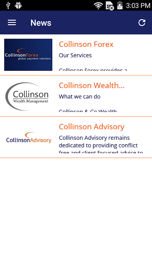 CollinsonFX- screenshot
