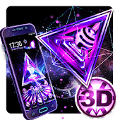 3D Neon Triangle Tech Theme