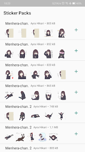 Menhera-chan - WhatsApp Stickers Screenshot