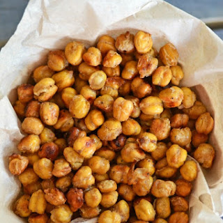 Crunchy Oven Roasted Chickpeas.