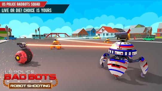 US Police Futuristic Robot Transform Shooting Game 1