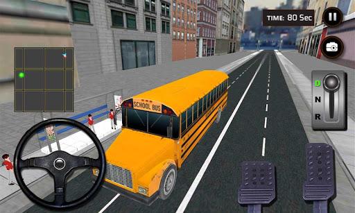 3Dリアルスクールバスのデューティ·ドライバ