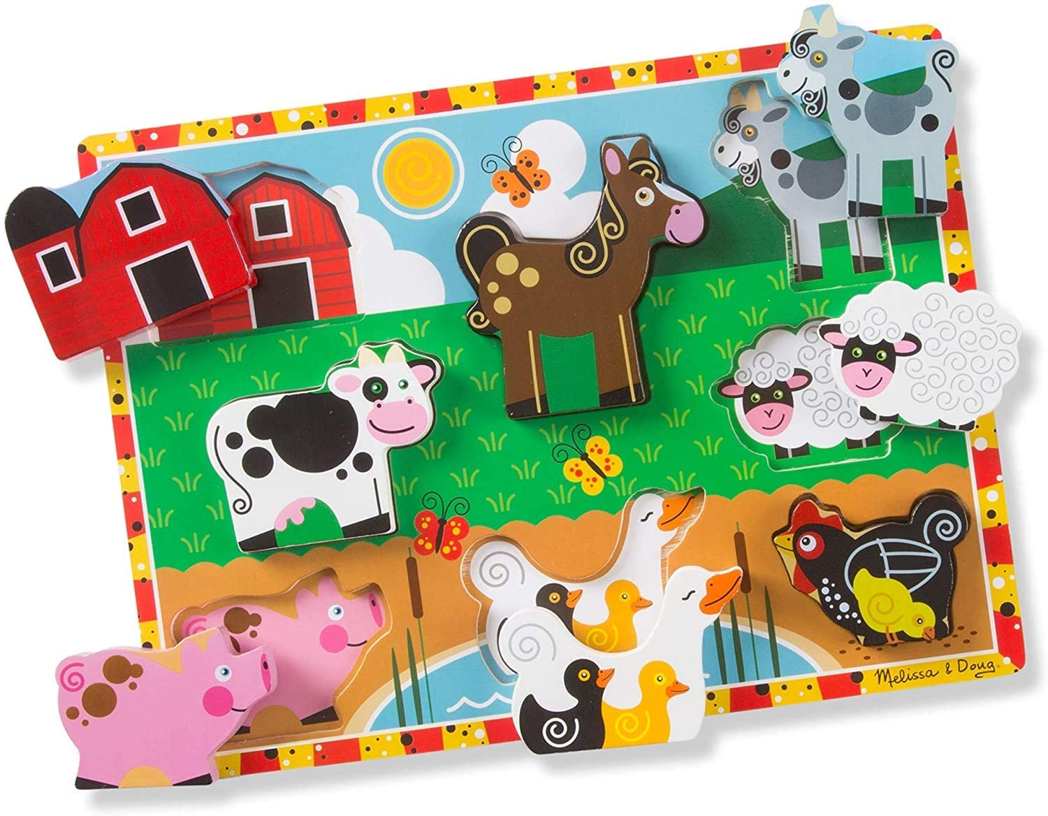 farm style puzzle for toddlers on Amazon