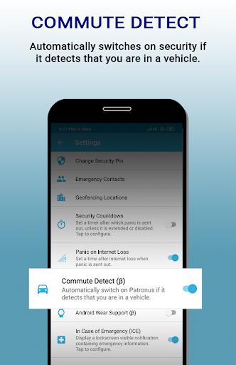 patronus - personal safety screenshot 1