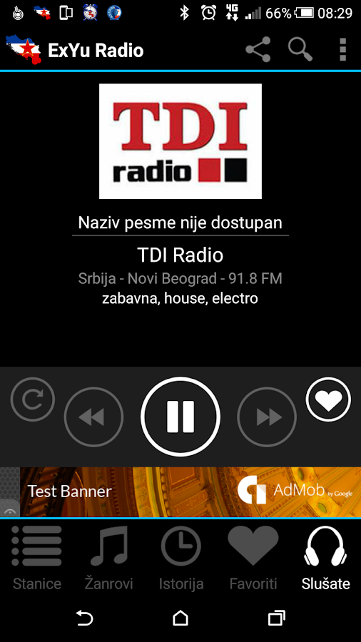 ExYu Radio Stanice- screenshot