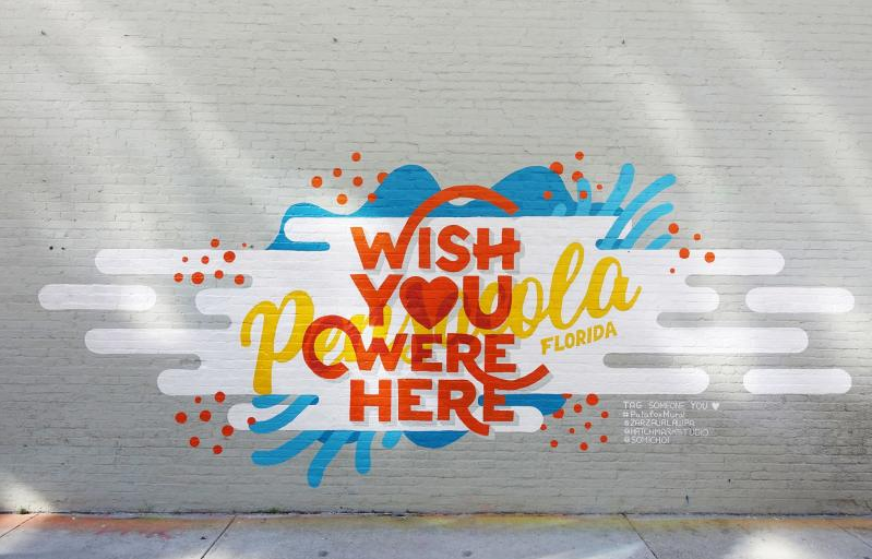 pensacola mural wish you were here