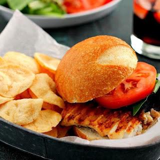 Grilled Haddock Sandwich.