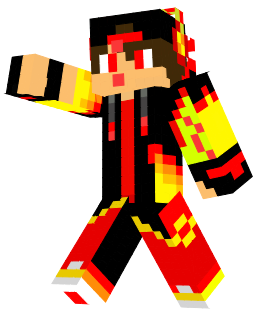 Flame spirit made of fire