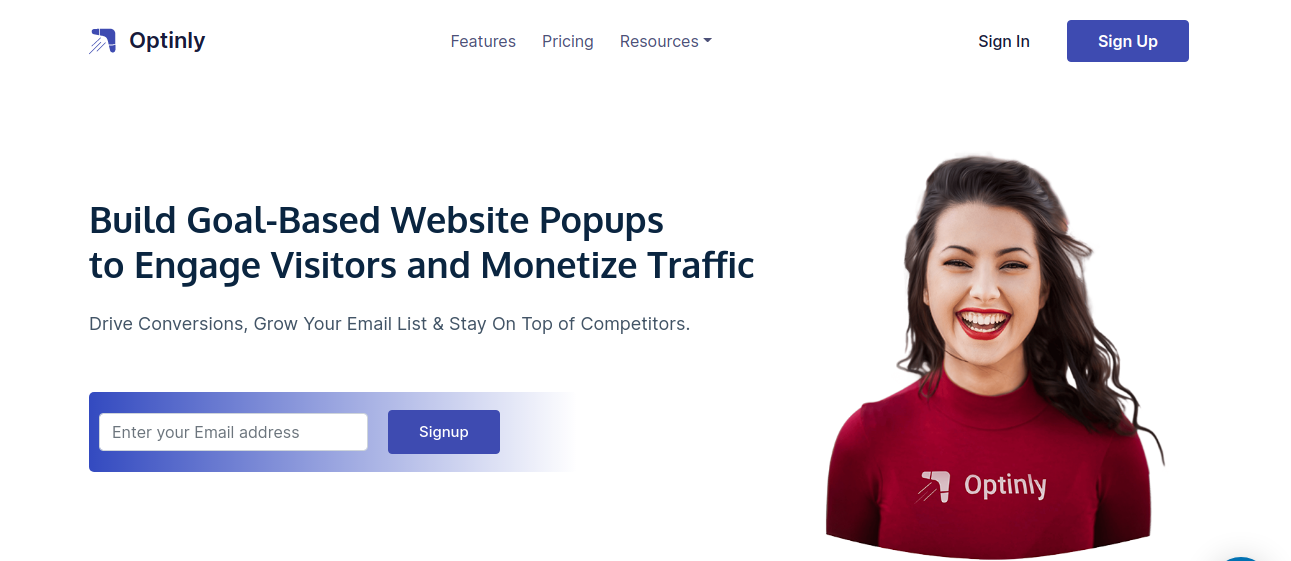 Optinly is a powerful WordPress popup plugin