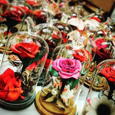 真•皮革玫瑰花
