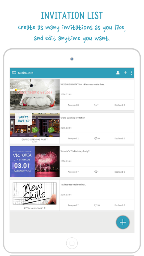 Susirocard invitation maker android apps on google play susirocard invitation maker screenshot stopboris Choice Image