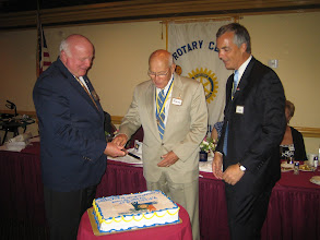 Photo: Bill, Blaine, and Joe  at cake cutting ceremony