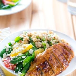 Balsamic-Glazed Chicken with Citrus Salad and Quinoa