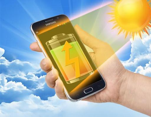 太陽電池充電器いたずら
