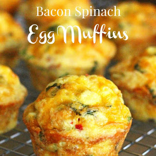 Bacon Spinach Egg Muffins.
