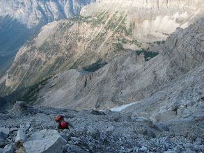 Photo: The terrain gets steeper and it`s very loose.