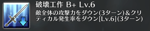 破壊工作[B+]